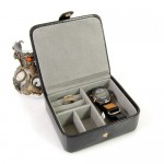 Leather Travel Ring and Stud Box