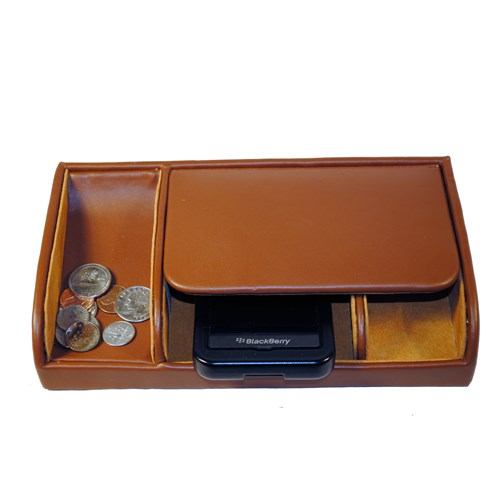 Small Leather Dresser Valet