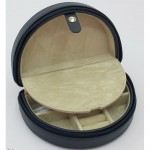 Zippered Half Moon Jewelry Box