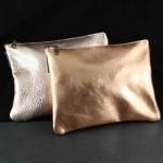 2-d Leather Makeup Bag: Large