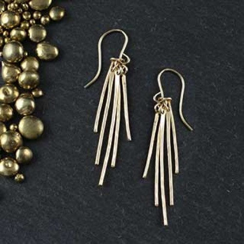 5 Hammered Wire Earring