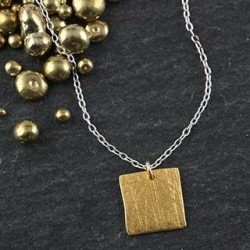 Baby Geo Necklace: Square