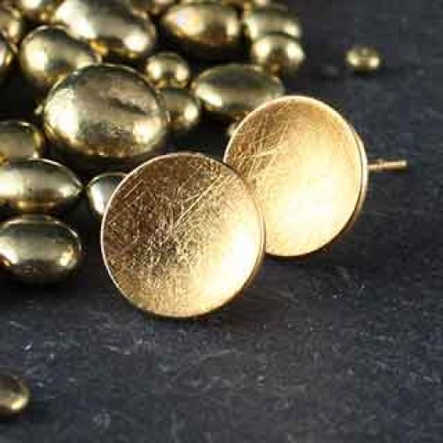 Brushed Disc Post Earring