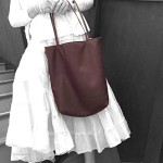 Carmel Leather Tote Bag: Large/Lined