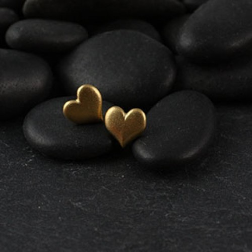 Charming Heart Post Earring: Small