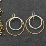 Double Flat Ring Earring: #24