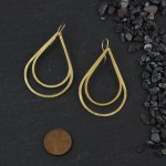 Double Flat Teardrop Earring: Large