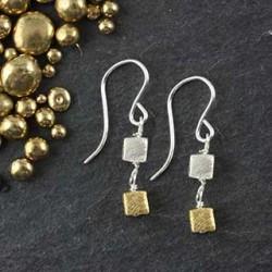 Double Microcube Earring