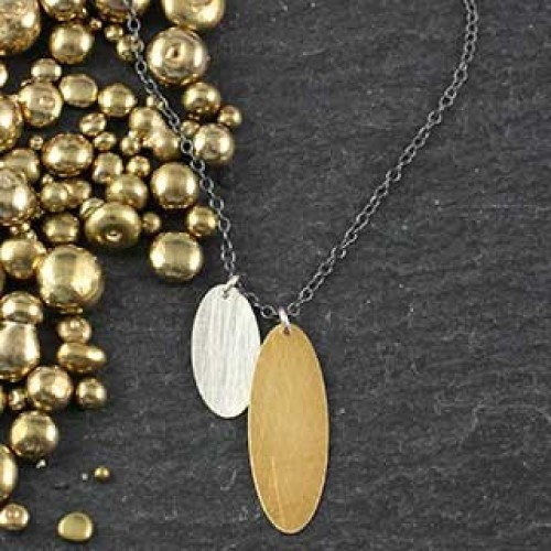 Double Skinny Oval Necklace