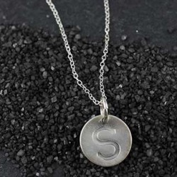 Embossed Disc Necklace