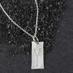 Embossed Rectangle Necklace