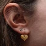 Flat Medium Heart Earring