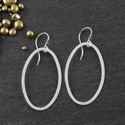 Flat Oval Earrings #3