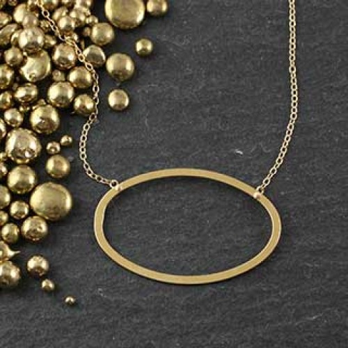 Flat Oval Necklace #3