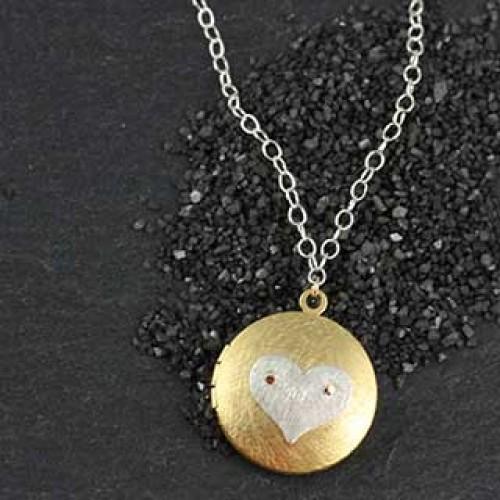 Icon Locket Necklace: LgRound