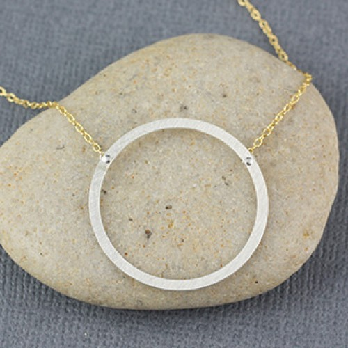 Just Flat Rings Necklace