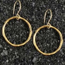 Large Twiggy Ring Earring Round/no Stone