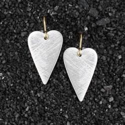 Long Heart Earring