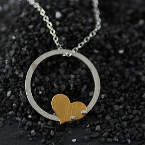 Md Ring & Riveted Heart Necklace