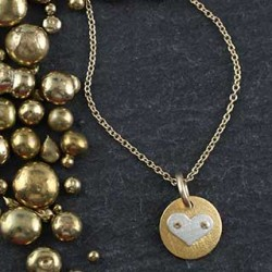 Mini Disc Necklace: Heart