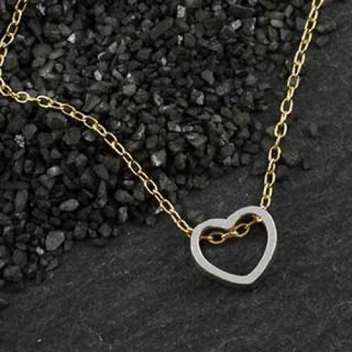 Mini Open Heart Slider Necklace