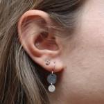 Mixed Dbl Dot Earring