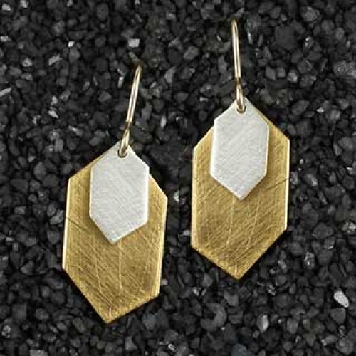 Mixed Diamond Point Earrings