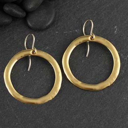 Plated Charm Round Earring