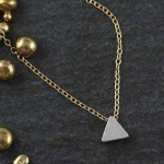 Plated Mini Slider Necklace - Triangle