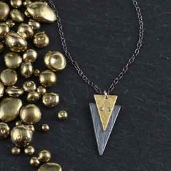 Riveted Triangle Necklace