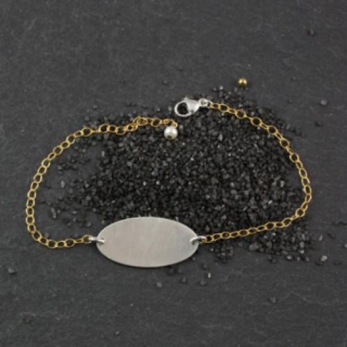 Skinny Oval Bracelet