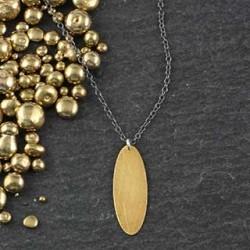 Skinny Oval Necklace #2
