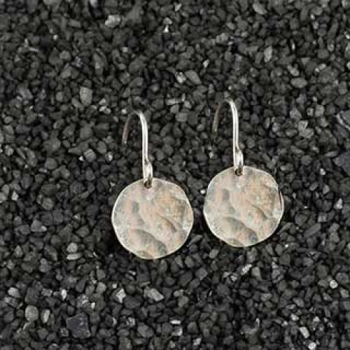 Small Hammered Disc Earring