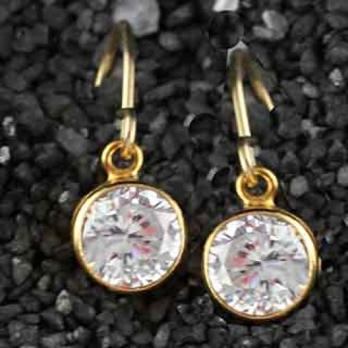 Solitaire Earring: Large