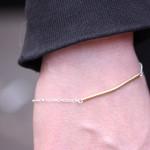 Thin Textured Stick Bracelet 877 Horz: Large