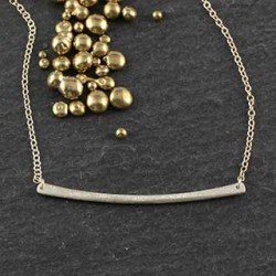 Thin Textured Stick Necklace Horz: Large