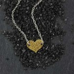 Threaded Sm Flat Heart Necklace