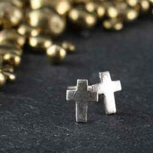 Tiny Cross Post Earring
