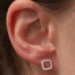 Tiny Square Post Earring