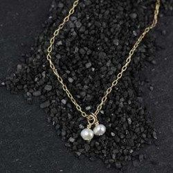 Two Tiny Pearls Necklace