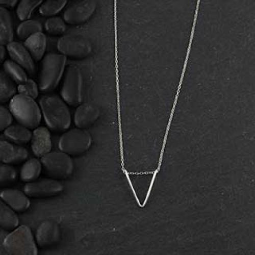 Wire Chevron Necklace