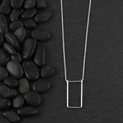 Wire Rectangle Necklace